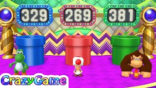 Mario Party 10 Coin Challenge - Yoshi vs Toad vs Donkey Kong 3 Player | CRAZYGAMINGHUB