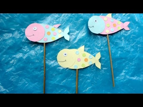 Create Smiley Fish Stick Puppets - DIY Crafts - Guidecentral