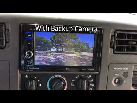 Boss BVB9364RC With Backup Camera In A 2001 Ford F-250