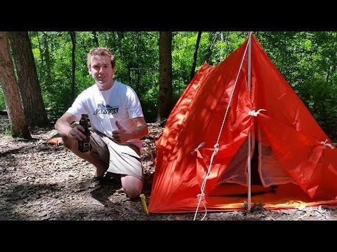 1960u0027s 3 Pound Nylon Scout Backpacking Tent  sc 1 st  YouTube & 1960u0027s 3 Pound Nylon Scout Backpacking Tent - YouTube
