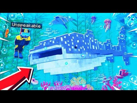 SWIMMING WITH THE BIGGEST SHARK'S IN MINECRAFT!