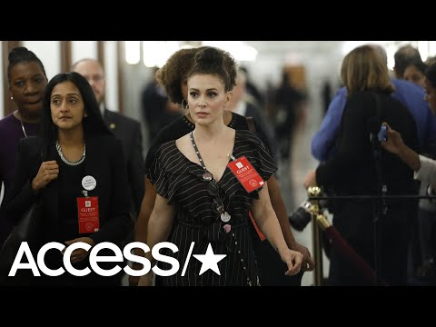 Alyssa Milano Is Criticized For Her 'Revealing' Dress At The Kavanaugh Hearing  Access