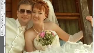 Ретушь свадебной фотографии 2-2
