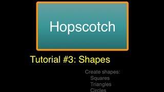 iPad App: Hopscotch, Drawing Shapes
