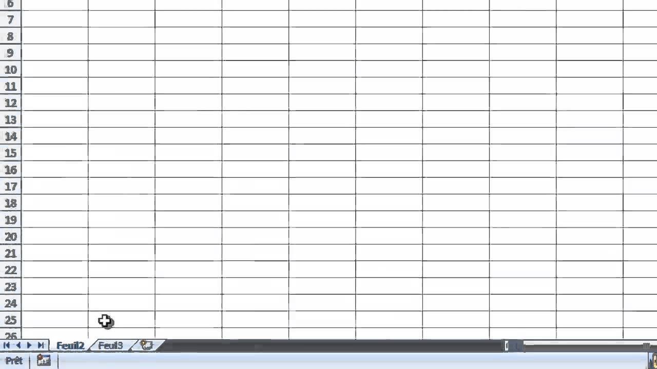 Excel 2007 tutoriel 2 notion de classeur feuille et - Tableau remboursement emprunt excel ...