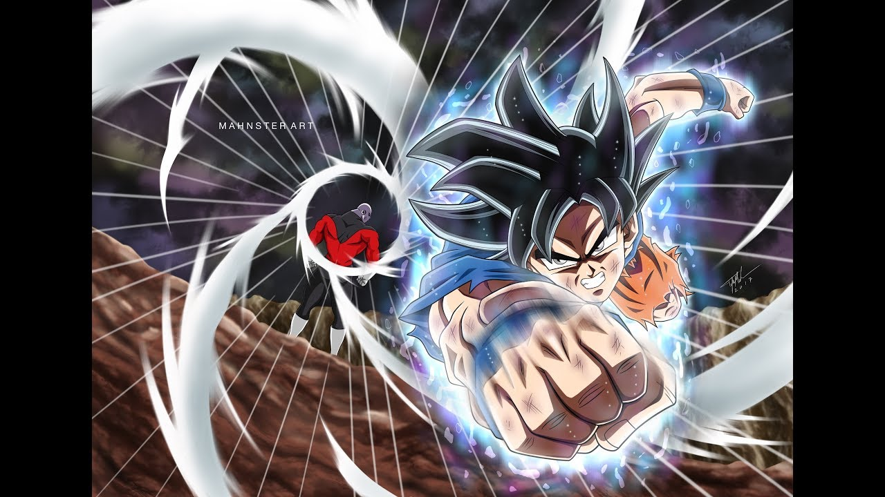 Drawing goku ultra instinct vs jiren dragon ball super tournament of power mahnster art - Goku ultra instinct sketch ...