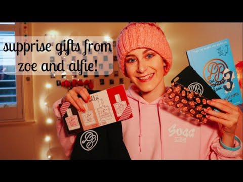 SURPRISES FROM ZOE & ALFIE!! Zoella Beauty + Merch!