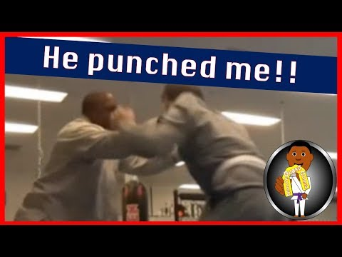 BJJ Roll No.100 - He Punched Me - Bakari w/Rocko at Smiley Academy
