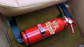 В каком месте должен лежать огнетушитель и аптечка?(Правильное место для огнетушителя и аптечки в автомобиле может спасти жизнь вам и вашему автомобилю. Где..., 2015-08-09T14:10:48.000Z)