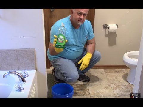 how to unclog a toilet with soap and hot water