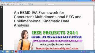 An EEMD IVA Framework for Concurrent Multidimensional EEG and Unidimensional Kinematic Data Analysis