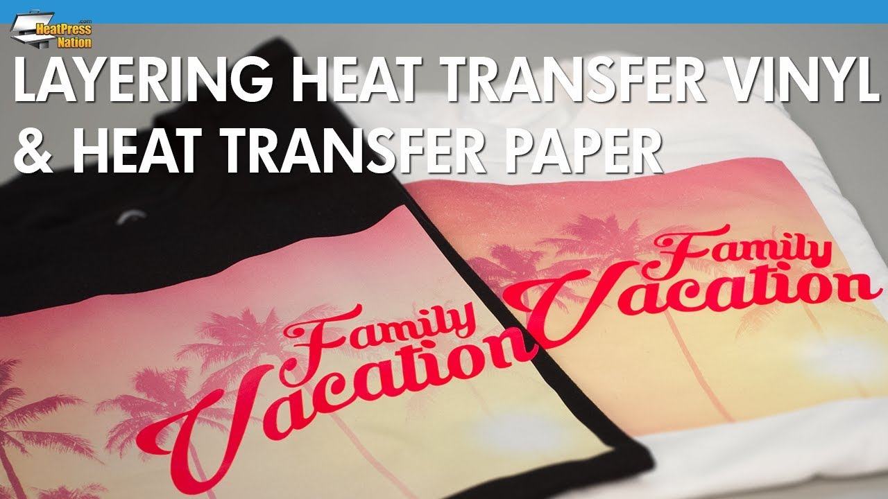 photograph about Printable Heat Transfer Paper referred to as Layering Warmth Go Vinyl on to Warmth Shift Paper