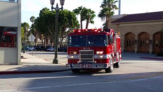 LAFD Engine 482 (Reserve) (Lots of Horn) Responding from Station 27