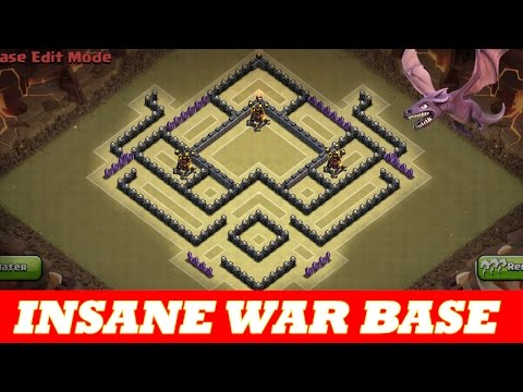 INSANE TH8 WAR BASE | ANTI AIR /DRAG ANTI HOG | 2 DEFENSIVE REPLAYS | Clash Of Clans