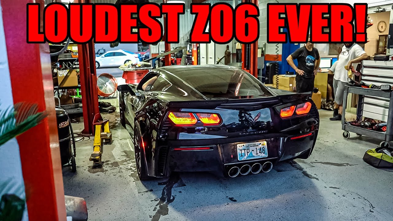 LOUDEST C7 CORVETTE Z06 EVER! My NEW EXHAUST Is On!