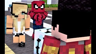 "NEW MINECRAFT SONG! ""Nemesis Part 3"" Spiderman, Psycho Girl, Iron Man and Batman!"