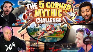 THE FORTNITE 5 CORNER MYTHIC CHALLENGE! FT. NINJA, SYPHERPK & COURAGEJD
