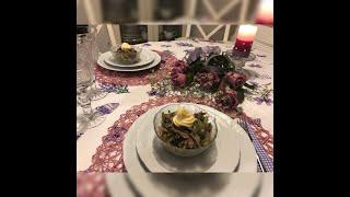 Салат с Языком очень сытный и вкусный .