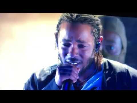 Kendrick Lamar Performs on Grammys