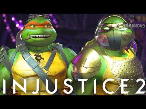 CRAZIEST NINJA TURTLES MIRROR MATCH EVER... - Injustice 2 'Ninja Turtles' Michelangelo & Raphael