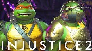 """CRAZIEST NINJA TURTLES MIRROR MATCH EVER... - Injustice 2 """"Ninja Turtles"""" Michelangelo & Raphael"""