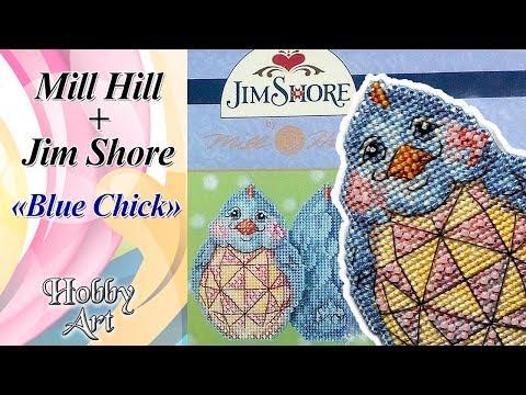 """Вышивка. MillHill + Jim Shore """"Blue Chick"""" / Обзор. Готовая работа. Впечатления."""