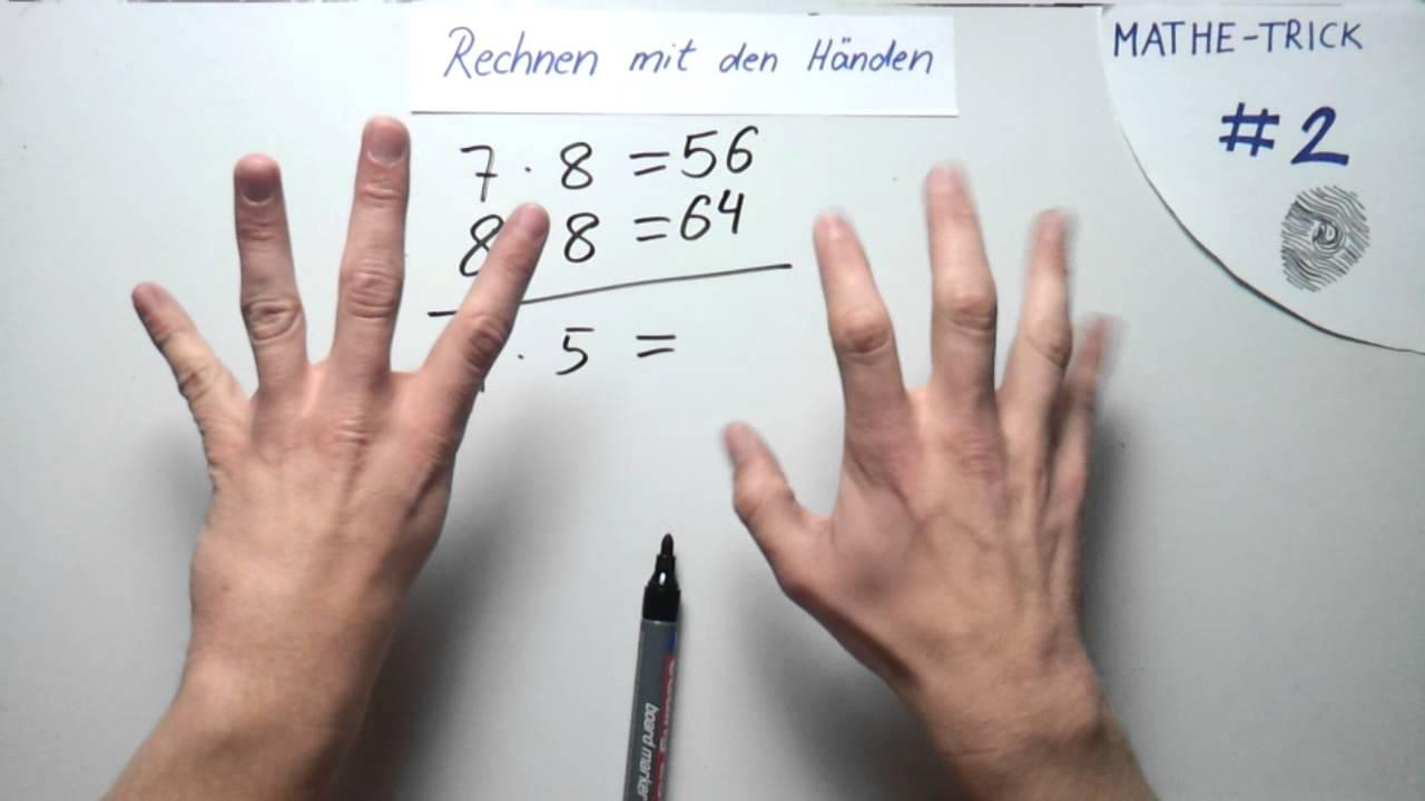 Mathe Trick #2 Rechnen mit den Händen - YouTube
