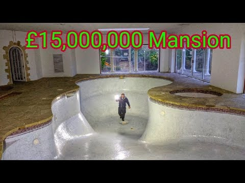 Abandoned £15,000,000 Mansion With Huge Indoor Swimming Pool