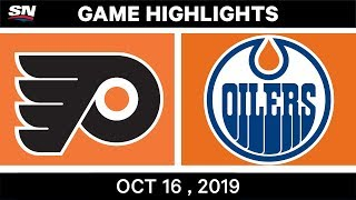 NHL Highlights | Flyers vs Oilers - Oct 16 2019