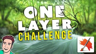 One Layer Challenge - River Landscape Painting (Corel Painter Tutorial)