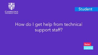 How do I get help from technical support staff?