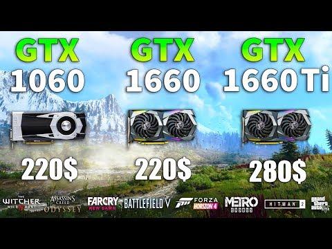GTX 1660 Vs GTX 1060 Vs GTX 1660 Ti Test In 8 Games