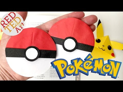 Easy Pokeball Bookmark - Pokemon Go Origami - Paper Crafts - Collab with Natasha Lee Pokeball Nails