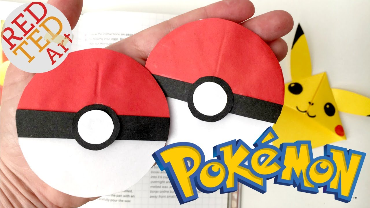 Easy Pokeball Bookmark