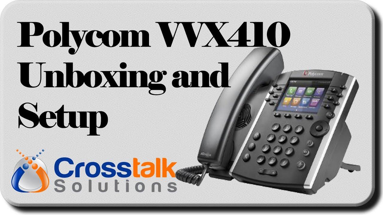 Polycom VVX410 Unboxing and Setup with FreePBX