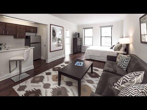 Tour a model studio apartment on the Gold Coast / Streeterville border