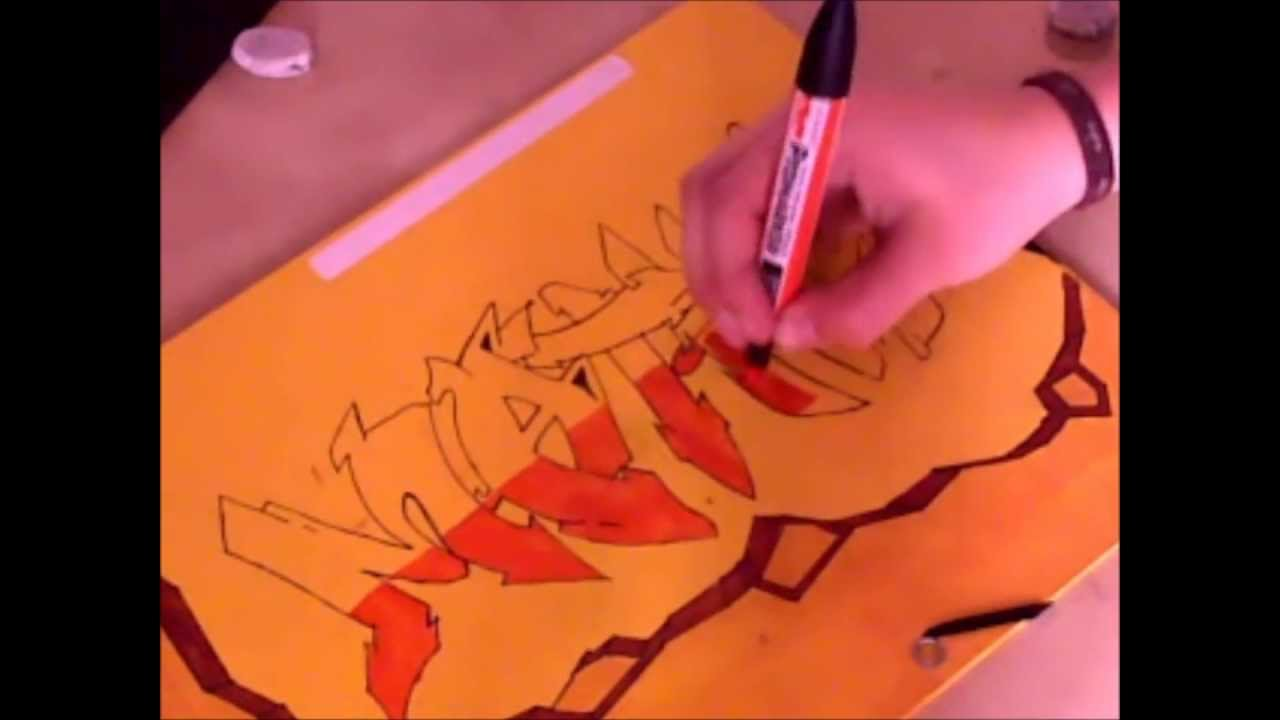 "Speed graffiti ""Maths"" sur pochette - YouTube