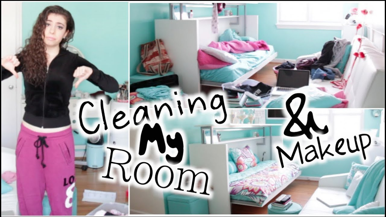 Cleaning My Room & Makeup! - YouTube