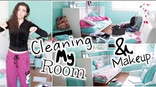 Cleaning My Room & Makeup! Thumbnail