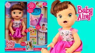 boneca baby alive hora de comer morena com papinha e fraldinha review toysbr