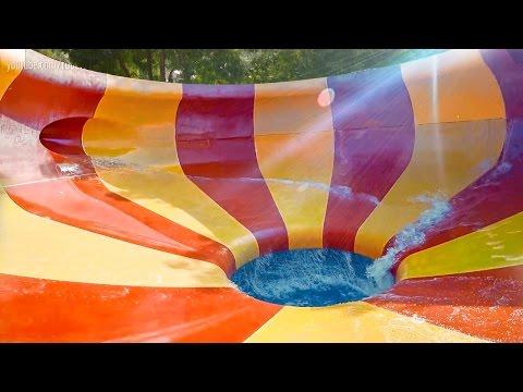 Dreamland Aqua Park - Twister Trichterrutsche | Space Bowl Onride POV
