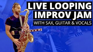 Live Looping Improv Jam w/ Sax, Guitar, Vocals in 360 VR + spatial audio