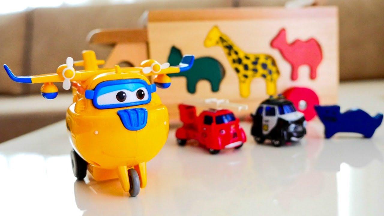 Видео для детей про машинки и самолеты. Супер крылья ...