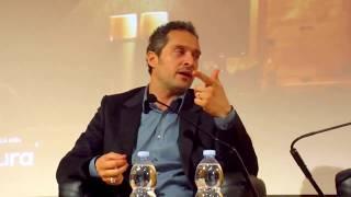 Claudio Santamaria, conferenza stampa del corto The Millionairs: incontro a Milano