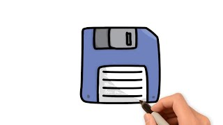 How to draw floppy disk