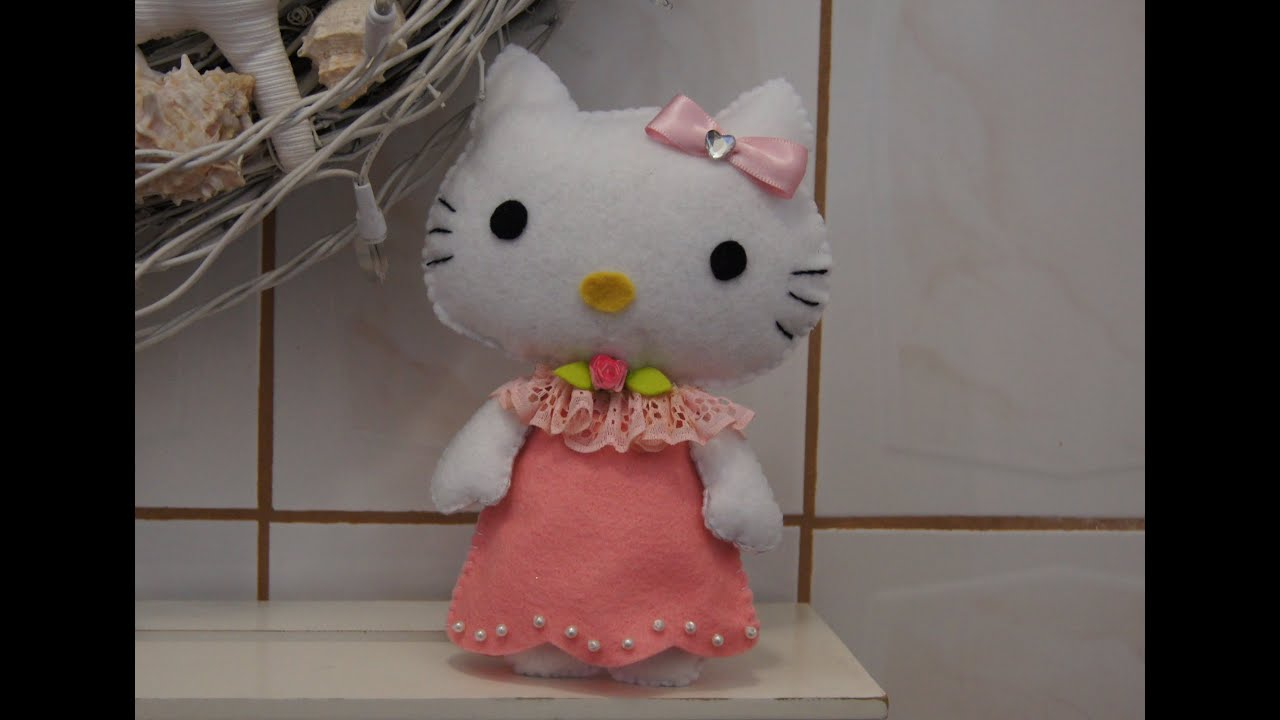 Diy hello kitty en fieltro manualidades bbarte1 youtube - Papel de fieltro ...