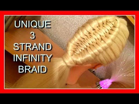 UNIQUE 3 STRAND INFINITY BRAID HAIRSTYLE / HairGlamour Styles /  Braids Hair Tutorial