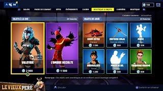 "FORTNITE FORTNITE Shop of February 14 Skins ""VALKYRIE"" - ""Ombre OCCULTE""!"