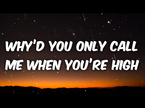 Miley Cyrus - Why'd You Only Call Me When You're High (Lyrics)Main Character challenge [Tiktok Song]