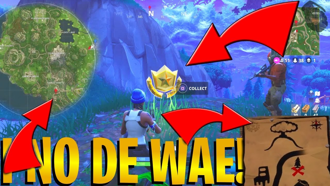 How to  Follow the Treasure Map  found in Dusty Depot    Fortnite     How to  Follow the Treasure Map  found in Dusty Depot    Fortnite EASY XP  GUIDE